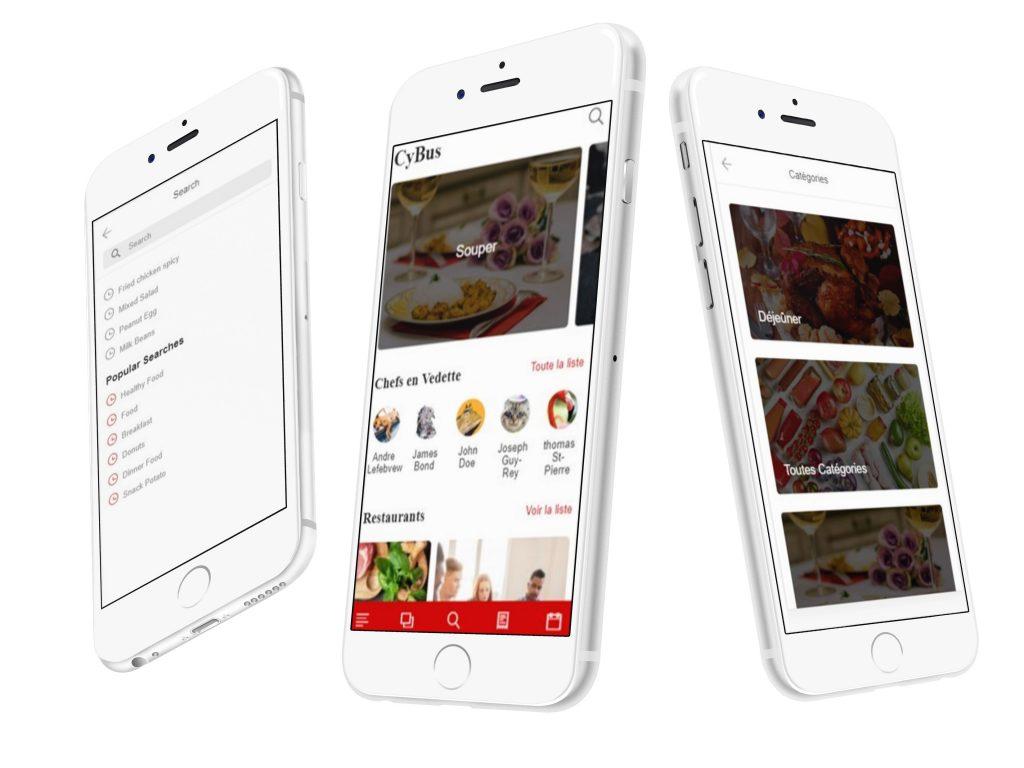développement de l'application mobile Cybus