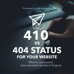 Should you use 410 or 404 Error page?