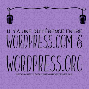 WordPress.com et wordpress.org