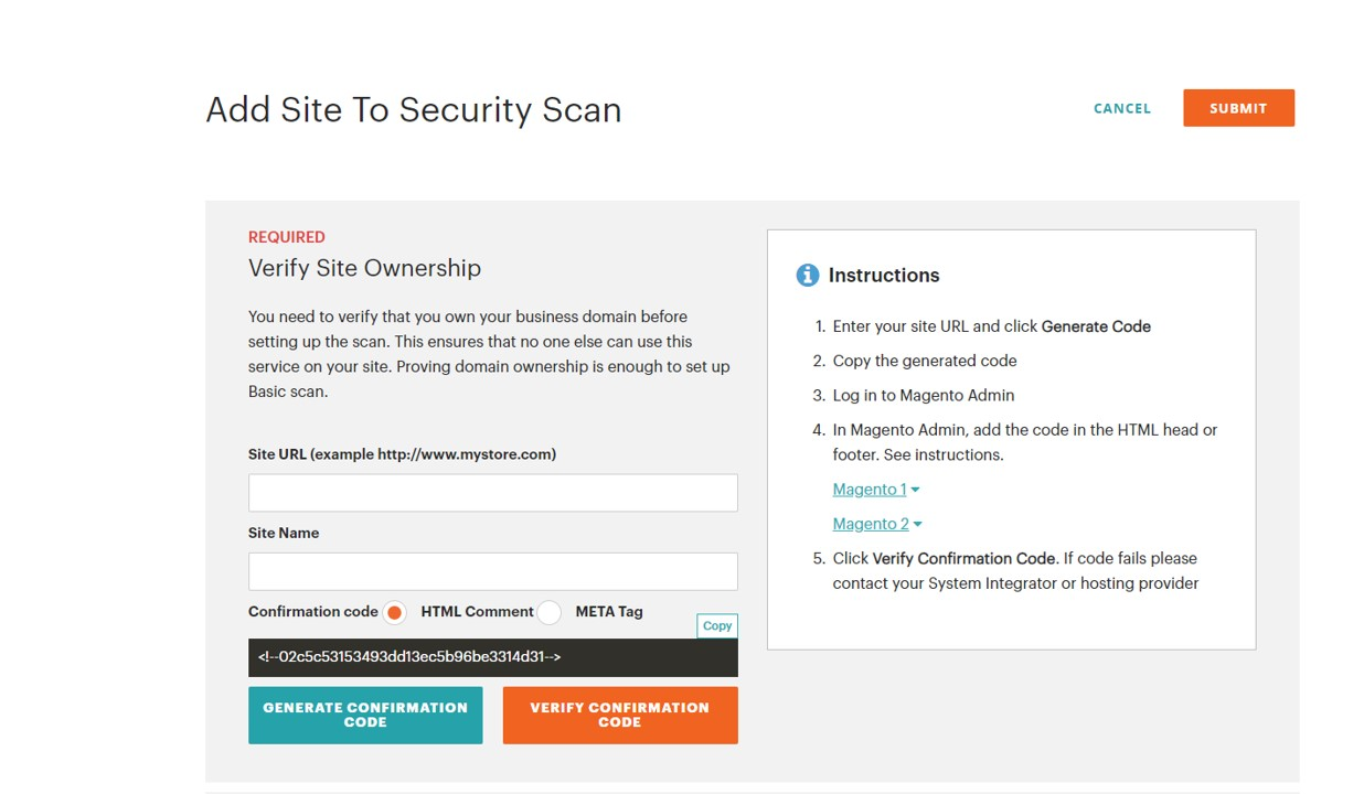 security of your Magento