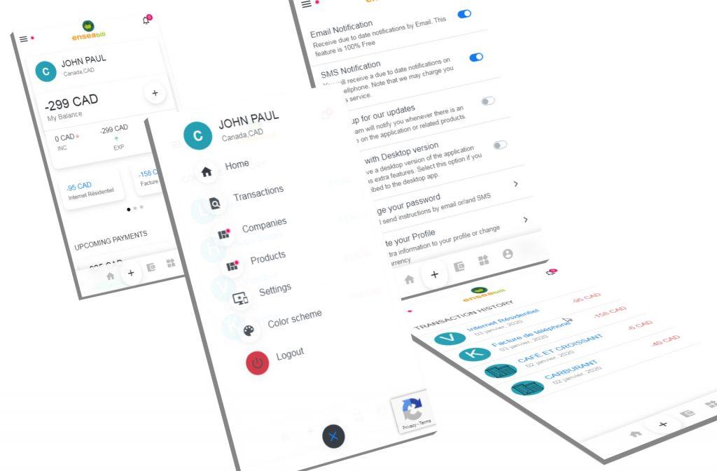 développement de l'Application mobile Ensea Bill