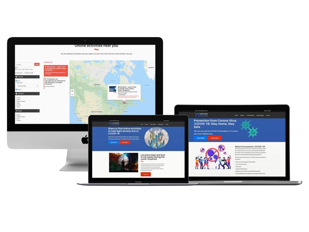Hopvid19 - Site web et Intranet