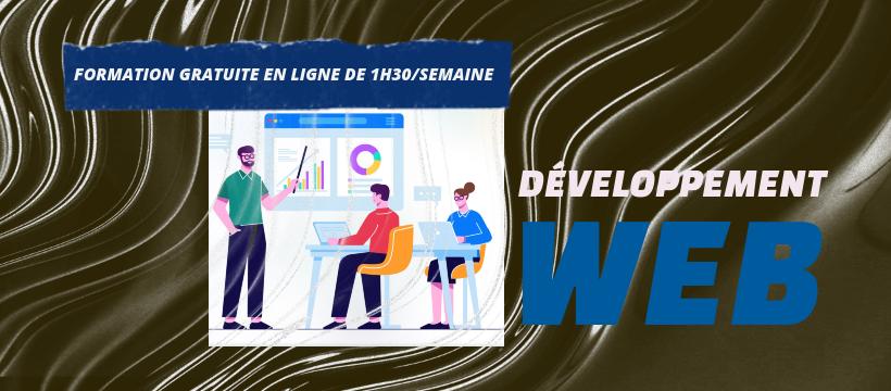 Formation gratuite en développement web en ligne de 1h30 min par semaine