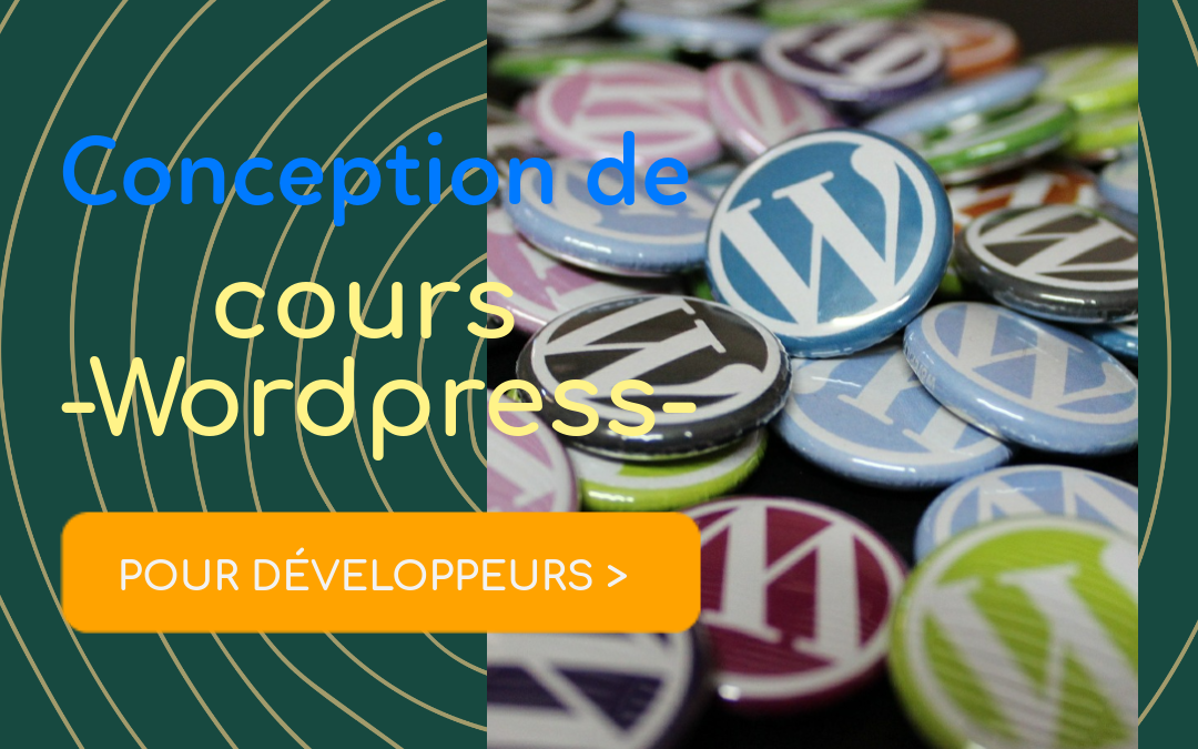 Conception de cours Wordpress