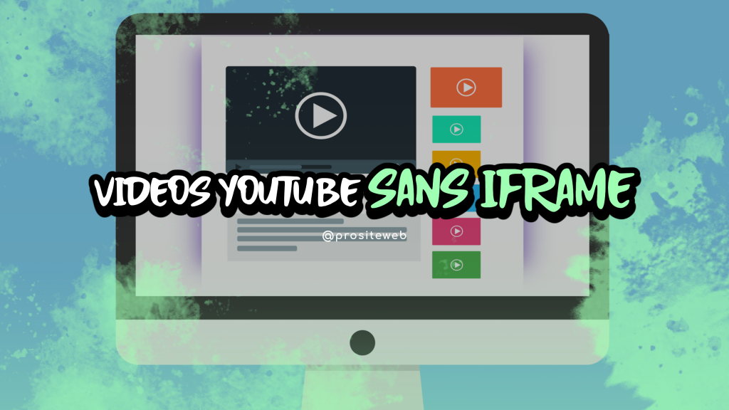 How to embed a youtube video without iframe in order to improve website performance